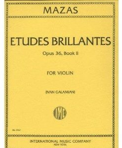 Mazas Jacques Fereol Etudes Brillantes Op. 36, Book 2 Violin solo by Ivan Galamain International